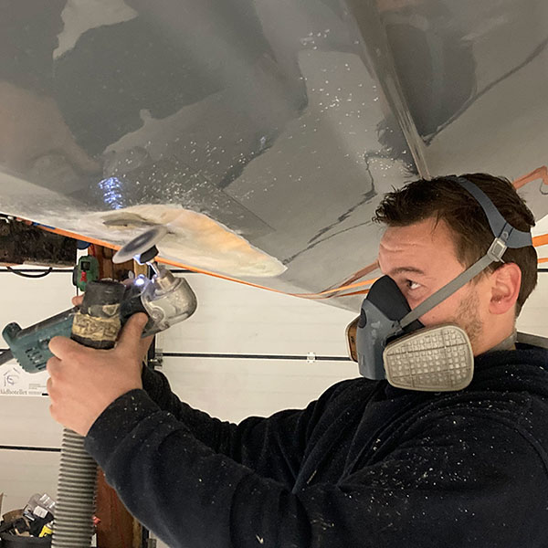 Glasfiber reparation - Boathouse Sletten